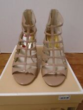 Michael Kors Mavis Open Toe Strap Heel 9 M New Shoe Tan Beige Leather MRSP $195