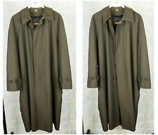 Michael Kors Mens Long Coat Olive Green Size 40S RN21510/2013/1 Great Condition