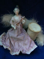 """Antique Rare Dressel Kister Lady Half Doll Candy Container 7"""" Nice"""