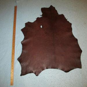 Dark Walnut Waxed Goatskin Leather Hide Bookbinding Journal Bible