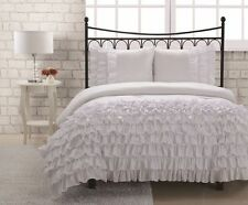 3 Piece Soft Ruffled Comforter Set With Matching Curtains Available!!! 9 Colors!