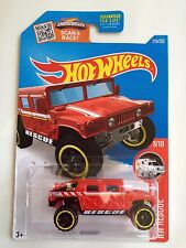 Hot Wheels Hummer Humvee Rescue Vehicle - red