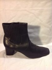 Footglove Black Ankle Leather Boots Size 5