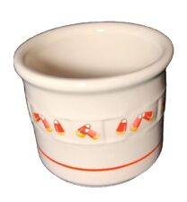 New ListingLongaberger Pottery Woven Traditions Candy Corn Halloween Votive Candle Holder