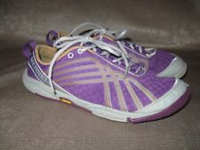 Merrell Womens Ice Lace up sneakers. Sz 7. Purple mesh uppers with orange accent