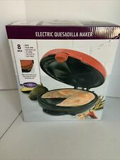 "Nostalgia Electric Quesadilla Maker 8"" new in opened box"