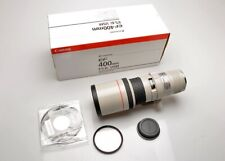 Canon EF 400mm f5.6L USM lens, Caps, BONUS used B+W filter, EX ++ Made in Japan