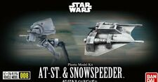 Bandai 215632 Star Wars Vehicle Model 008 Kit 1/144 Scale AT-ST & Snowspeeder