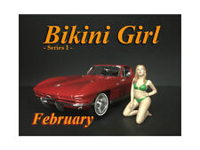 FEBRUARY BIKINI GIRL FIGURE FOR 1/24 SCALE MODELS BY AMERICAN DIORAMA 38266