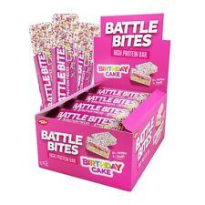 Morsi di battaglia barrette proteiche Confezione da 12 a basso contenuto di carboidrati & ZUCCHERO morbida al forno Torta di Compleanno