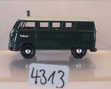 Brekina 1/87 Volkswagen Bulli VW T1a Bus Polizei neutral Dach weiss #4313