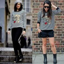 Zara Cotton Striped Jumpers & Cardigans for Women