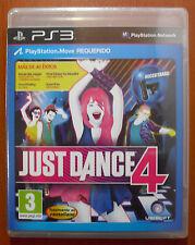 Just Dance 4, Ubisoft, PlayStation 3 PS3, PS Move, Pal-España ¡NUEVO PRECINTADO!