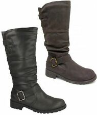 Damenschuhe im Wadenhohe Stiefel-Stil mit Reißverschluss für Kleiner Absatz (Kleiner als 3 cm) und Freizeit