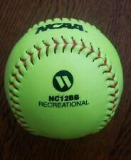 "New Worth 12"" Ncaa Recreational Neon Yellow Softball Nc12Bb (Training/Practice)"