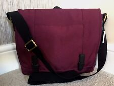FOSSIL BURGUNDY WATER RESISTANT COMMUTER FOLIO SATCHEL BAG BNWT RETAIL £119