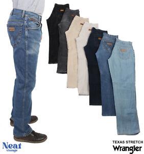 Vintage Wrangler Texas Stretch Jeans Original Fit Mens W28 W30 W32 W34 W36