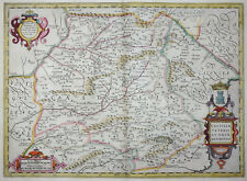 MERCATOR HONDIUS SPANIEN KASTILIEN CASTILIAE VETERIS ET NOVAE DESCRIPTIO 1606