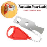 Portable Door Lock Hardware Security Travel Hotel Home Lockdown Lock Addalock