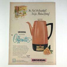 1954 Universal Copper Coffeematic Coffee Maker Vintage Photo Print Magazine Ad
