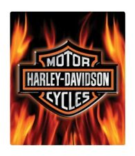 Harley Davidson Embossed Flaming Bar Shield Logo Tin Sign Garage Bar Great Gift