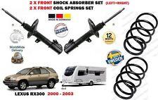 Per Lexus rx300 2000-2003 2 X TRAINO Anteriore Ammortizzatore Set + 2x molle a spirale