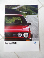 Volkswagen Golf GTI 1987 - catalogue brochure dépliant prospekt catalog