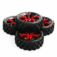 4Pcs 12mm Hex wheel rim and rally tires for HSP HPI RC 1:10 Racing Model car
