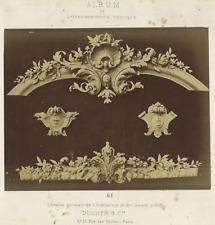 France, L'Ornementation Pratique  Vintage albumen print.  Tirage albuminé
