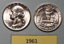 1961-P Us Silver Washington Quarter . Un-Circulated.