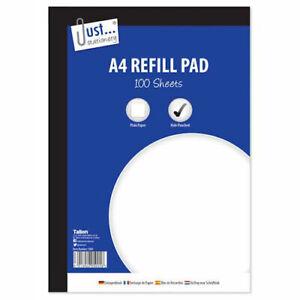 A4 Plain Refill Pad 100 53gsm Sheet - Plain Paper 100 Sheets School Office Home