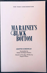 Ma Rainey's Black Bottom FYC screenplay script book August Wilson Viola Davis