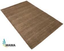 Gabbeh Teppich 120x180 cm Handgeknüpft ~ 100% Wolle ~Hell Braun ~ G121