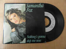 "DISQUE 45T  DE  SAMANTHA  FOX   "" NOTHING'S GONNA STOP ME NOW  """