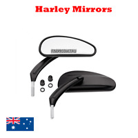 Black teardrop rear view mirrors Harley Softail Heritage Slim Breakout xl 48 883