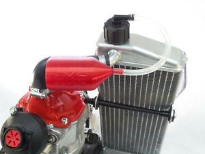Rotax overflow bottle and gearbox breather kit - Red - crg tonykart otk birel