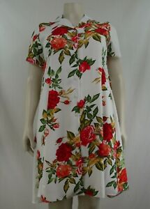 floral buttoned dresses with collar, sizes 14-28