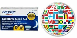 Equate Nighttime Sleep Aid 25mg 100 Mini Caplets