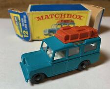 Matchbox Lesney Nbr: 12c 1965 Land Rover Safari TEAL w/ Lt. Brown Luggage