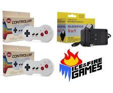 New Nintendo NES Set: 2x Dogbone Controllers + AC Adapter Power Cord