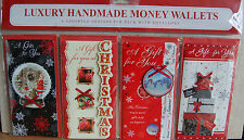 4pk Luxury Handmade  Christmas Money Wallets Cards with Envelopes