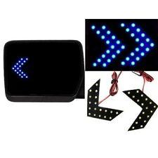 New Universal Blue LED Mirror Arrow Lights 14 LED Turn Signal Panel