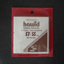 Hawid Stamp Mounts Size 57/55 BLACK Background Pack of 25