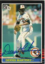 1985 Donruss #514 DENNIS MARTINEZ autographed card