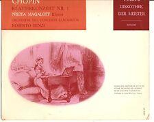 "CHOPIN: Klavierkonzert No.1 PHILIPS Holland 10"" LP Nikita Magaloff piano/R.Benzi"
