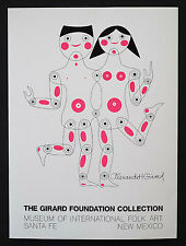 Alexander Girard Designed Original Poster for Folk Art Collection NOS