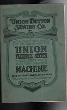 Union Flexible Stitch Machine Catalogue & Price List (Union Button Sewing Co)