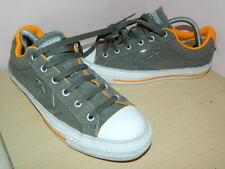 Converse Cons dark grey/ground/orange textile lace up plimsolls  uk 7 eur40