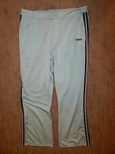 adidas Light Blue with Black Elastic Waist Loose Fit Track Pants Women's Large