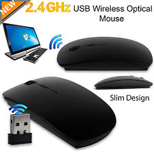 Nero Ottico Wireless cordless compatto mouse 120 DPI 2.4 GHz Windows & Mac Topi